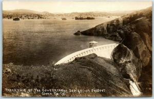 1910s Glenn County, CA RPPC Photo Postcard Reservoir Gov't Irrigation Project