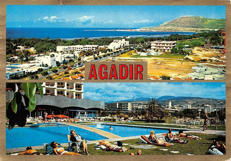 Agadir Vue Panoramique Piscine, Panoramic view Swimming Pool