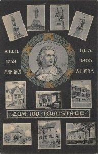 Germany Marbach 1759 Weimar 1805 Multi-View Postcard