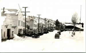 Vtg Postcard RPPC Quincy CA Street View In Winter - Eastman Studio B-896