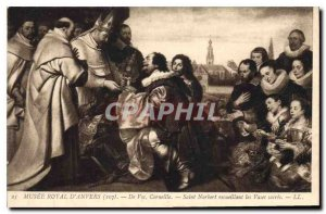 Postcard Old Royal Museum of Antwerp your Corneille Saint Norbert Collecting ...