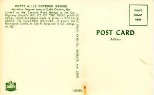 GA - Marietta/Smyrna Area. Ruffs Mills Covered Bridge
