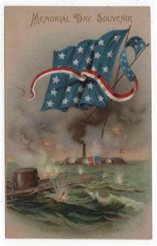 Vintage Decoration/Memorial Day Post Card, The Monitor's Great Victory