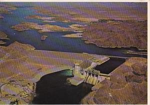 Arizona - Nevada Aerial View Davis Dam On The Colorado River