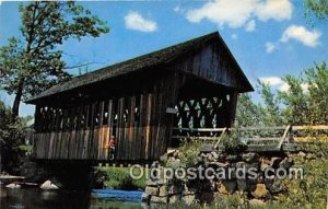 Covered Bridge Vintage Postcard Old Covered Bridge Andover, NH, USA