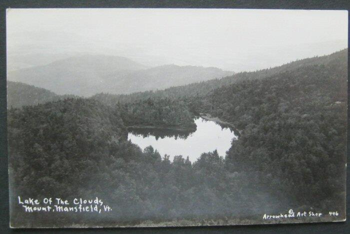 Lake Of The Clouds Mount Mansfield VT RPPC