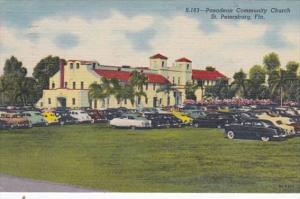 Florida St Petersburg Pasadena Community Club 1955 Curteich