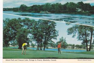 2-Views, Island Park and Crescent Lake, Portage La Prairie, Manitoba, Canada,...