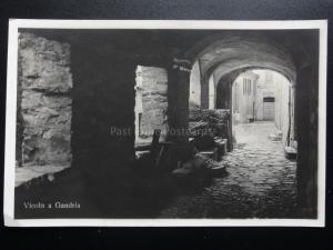 Switzerland: LUGANO - VICOLO A GRANDRIA - Old Real Photograph Postcard