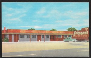 Johnsons Restaurant Dunn North Carolina Unused c1950s