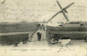 france, ACHICOURT (62), Environs d'Arras, Le Moulin, Windmill Mill (1908) LL.
