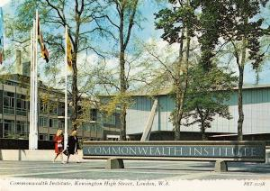 Lady City Workers at London Commonwealth Institute Postcard