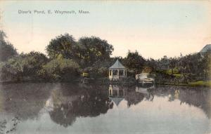 Weymouth Massachusetts Dizers Pond Gazebo Lake Scenic Antique Postcard K13346