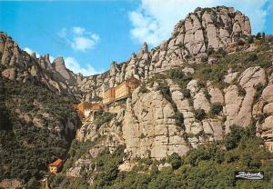 Carte Barcelone Montserrat.Spain Montserrat Barcelona The Mountain And The Monastery Hippostcard