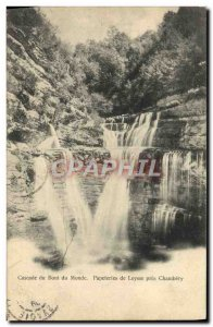 Old Postcard Cascade End of the World of Stationery Leysse near Chambery