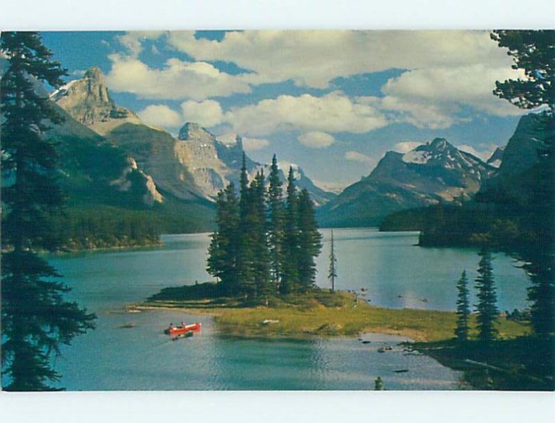 Unused Pre-1980 LAKE SCENE Jasper National Park Alberta AB F3168