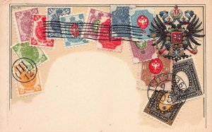 Russia, Classic Stamp Images on Early Embossed Postcard, Ottmar Zieher