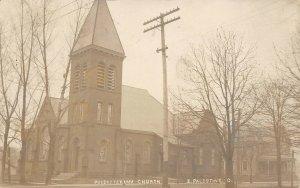 LP76 East Palestine Ohio   RPPC Postcard Presbyterian Church