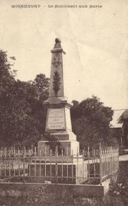 CPA Wignicourt - Le Monument aux Morts (113079)