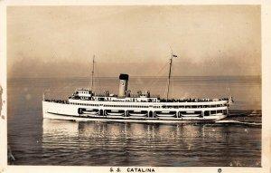 LPS39 Santa Catalina California S. S. Catalina The Great White Steamer RPPC