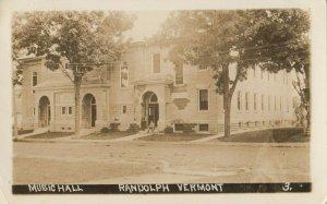 RP: RANDOLPH , Vermont, 1908 ; Music Hall