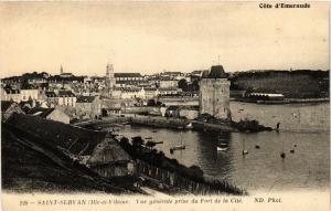 CPA St-SERVAN (Ille-et-Vilaine) - Vue générale du Fort de la Cité (357041)