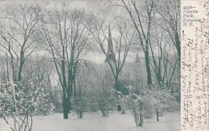 New York Syracuse Winter In Fayette Park 1906