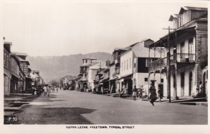 Sierra Leone Freetown Typical Street Canadian Cruise Ship Postcard