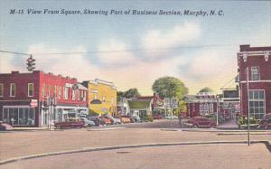 North Carolina Rocky Mount Business Section Street Scene View From Square