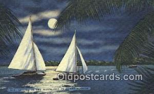 Florida, FL USA Sail Boat Postcard Post Card  Florida, FL USA