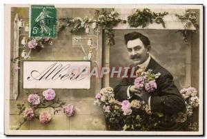 Old Postcard Fancy Albert Surname
