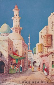 A Street In Old Tunis Tucks Charms Of The East Oilette Postcard