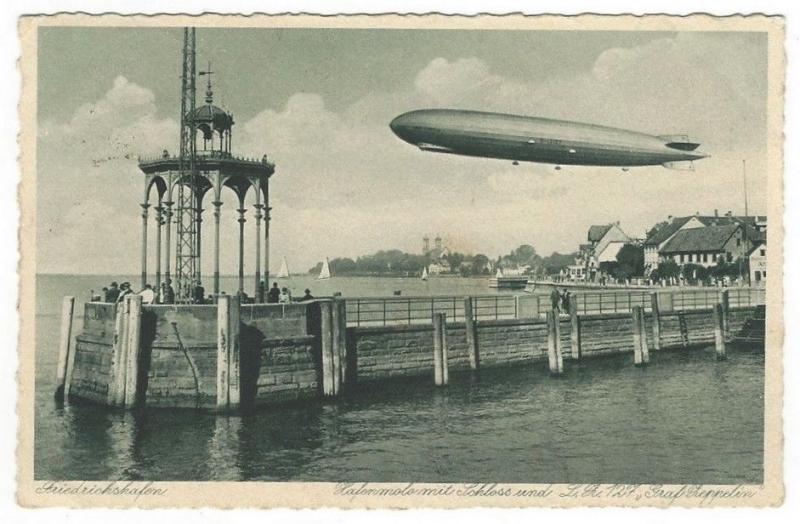 Germany 1929 PU Zeppelin postcard