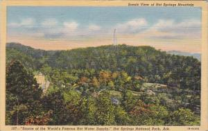 Scenic View Of Hot Springs Mountain Hot Springs National Park Arkansas 1945