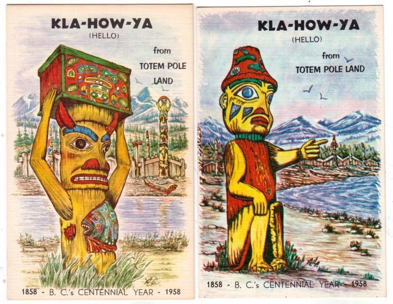 2 - Kla-How-Ya - Totem Pole Land - Centennial 1858 - 1958