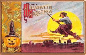 Halloween Post Card Old Vintage Antique 1911