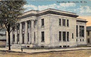 D28/ Moundsville West Virginia WV Postcard 1920 U.S. Post Office Building