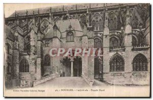 Old Postcard Bourges Cathedral Facade North