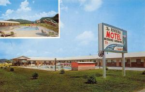 Pigeon Forge Tennessee~The Riviera Motel~Pool~1950s Cars~Postcard