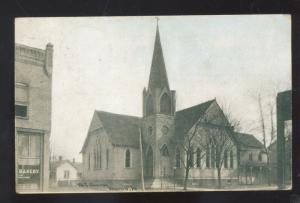 MARION IOWA METHODIST EPISCOPAL CHURCH BAKERY VINTAGE POSTCARD BROWNING