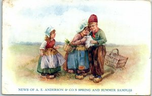 Chicago, Illinois Postcard News of A.E. ANDERSON & CO Spring & Summer Samples