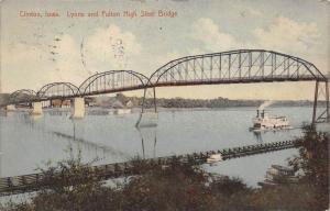 5355 Clinton, Iowa, Lyons and Fulton High Steel Bridge