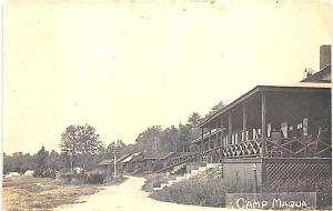 Poland ME Camp Maqua RPPC Postcard