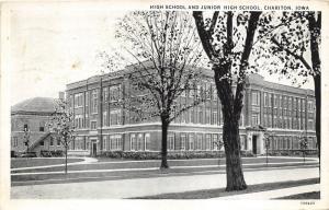 Chariton Iowa~High School & Hunior High School Building~1931 Postcard