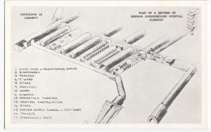 Guernsey; Plan Of A Section Of German Underground Hospital PPC, Unposted c 1950s