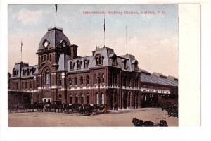 Intercolonial Railway Station, Halifax, Nova Scotia, Horses and Carriages