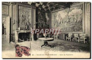 Old Postcard Foret De Fontainebleau Palace Tapestry Room