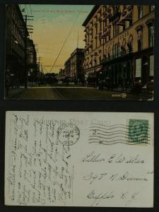 Corner Yonge and King Streets  postmarked 1909