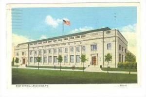Exterior, Post Office, Lancaster, Florida, PU-1941