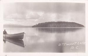 RP: Stewart Lake, British Columbia, Canada, 1920-1940s; Man On A Boat